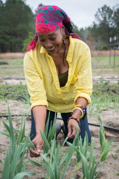 Jennifer Taylor of Lola's Organic Farm in Glenwood, Georgia