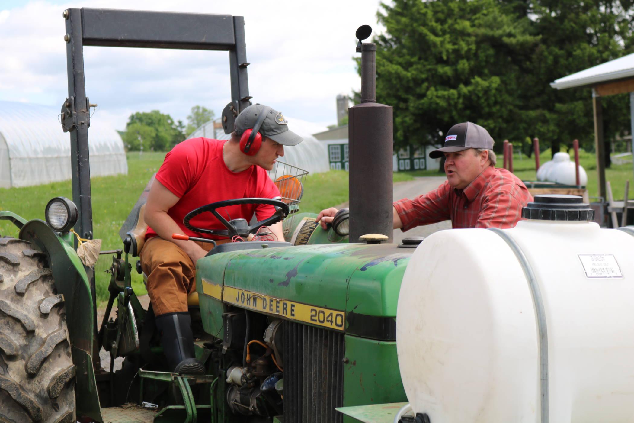 student of the veteran farmer training program