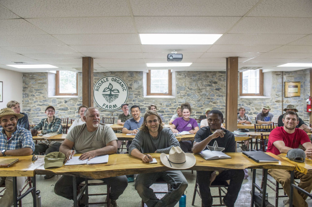 students in rodale institutes organic farming certificate program