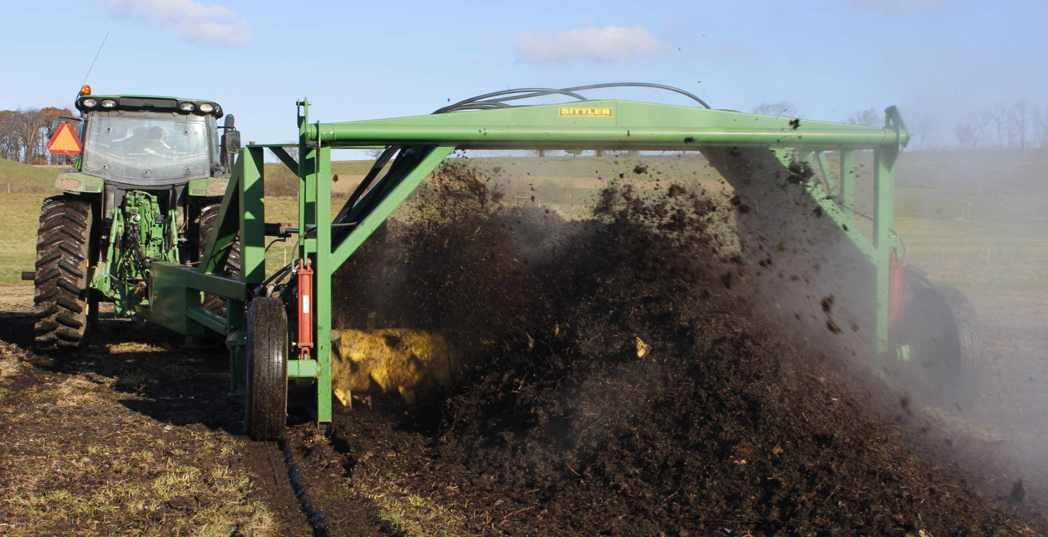 rodale turning compost