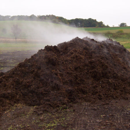steaming pile of compost
