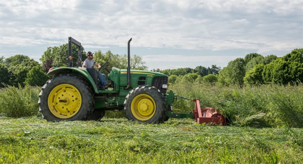 tractor with roller crimper